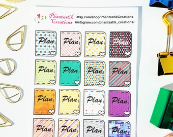 Plan Book Deco Functional Planner Stickers