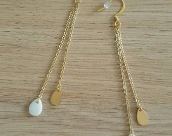 Elegant gold and Pearl Earrings