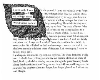 Forget - Blackout Poetry - Digital Download