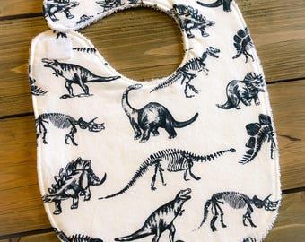 Baby Bib - Dinosaur Bib - Baby Shower Gift - Cotton Bib