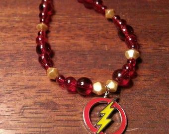 Red and gold superhero bracelet