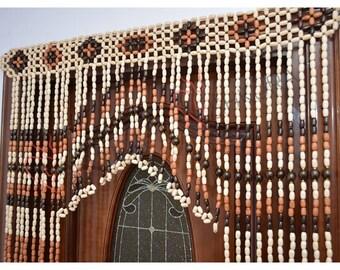 Perfect Beaded Door Curtain Decor Wood Curtain Gift Wood Blinds Door Beads Curtains  Beaded Door Curtain Wood