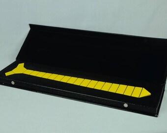Dapper Hex Yellow/Blue Tie - Blade line Style ( Suit Accessories - NeckTie, Hex Neck tie Style Futuristic Modern Geometric Tie)