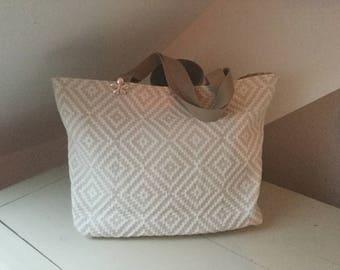 Geometric pattern fabric bag