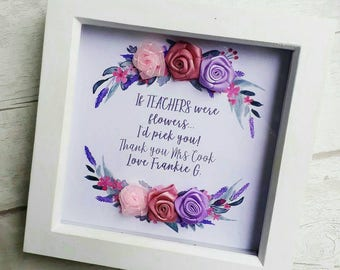 Personalised Teacher Frame, End Of Term Gift, Present For Teacher, Thank you Gift, End of School Year Gift, Best Teacher Print, Thankyou.