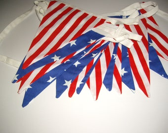 Stars & Stripes Fabric Bunting