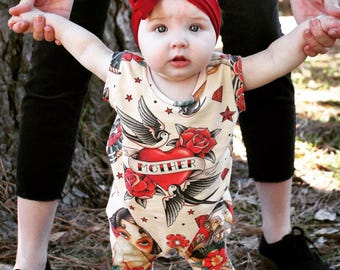 Old school tattoo romper