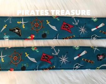 Pirates treasure: Dog collar, nautical boy dog collar
