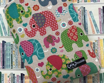 Buddle, small, padded book cover/sleeve (elephants)