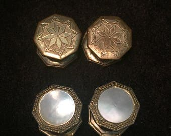 Pair of Antique Snap Cuff Links