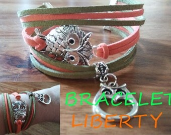 liberty bracelet, suede