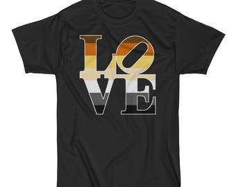 Bear Pride Love Statue Unisex Short Sleeve T-Shirt lgbt lgbtq lgbtqipa queer gay