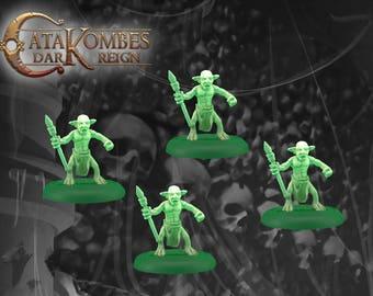 4 figurines Goblin