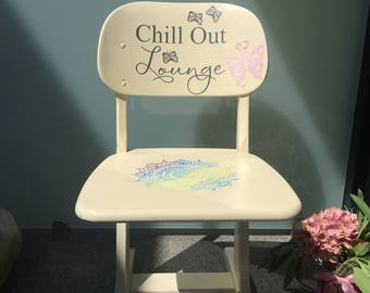 Wooden chair - child throne - chill out