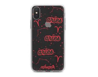 Transparent Aries iPhone Case 7 7 Plus 8 Plus X 10