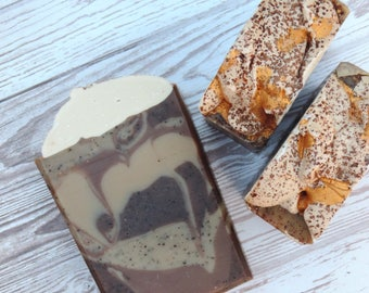Mocha Latte | Luxury Handcrafted Artisan Soap | XL Size | Limited Edition | Coffee Soap | Winter Collection | Palm Free | Made with Coffee