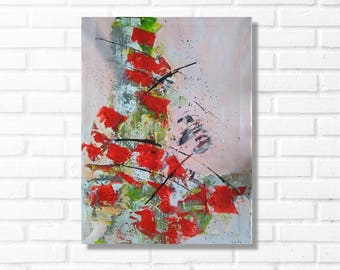 Painting red modern home decor