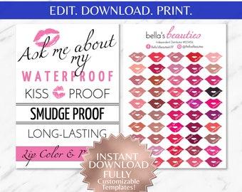What is LipSense LipSense Flyer LipSense Color Chart LipSense Colors LipSense Printable LipSense SeneGence Distributor Party Marketing