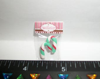 New Dollhouse Miniature Handcrafted Packaged Christmas Candy Canes Sweet Dessert Food #1403