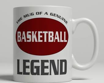 Basketball mug, basketball gift, basketball player gift, basketball coach mug, basketball gift idea, basketball legend, EB basketball
