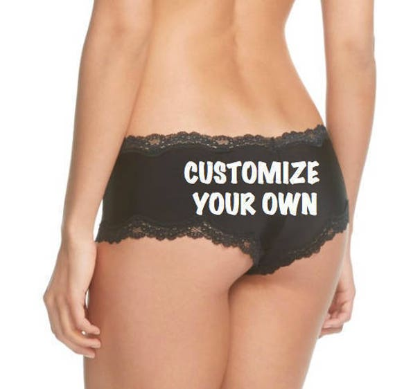 Personalized Boudoir Shoot Black Panties * FAST SHIPPING * Customize for you or a friend