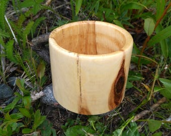 Alaskan Aspen Coffee Cup, Natural, Drinking, Wood Cup, Housewares