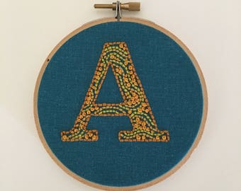 A is for Absolutely - Embroidered Initial