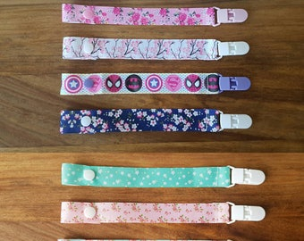 Girls Dummy Clip / Girls Dummy Saver / Girls Soother Clip / Ribbon Dummy Clip