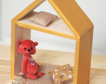 Wood, wooden dollhouse, Plywood house, wooden, miniature house, dollhouse wooden, american doll house, girls dollhouse, princess doll house