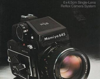 Mamiya M645 6X4.5cm Single-Lens Reflex Camera System 1980 Brochure