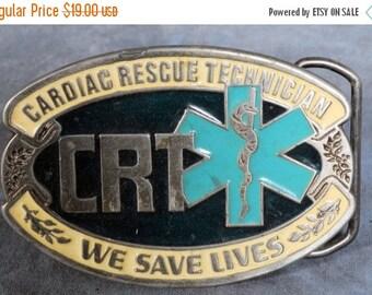CRT Cardiac Rescue Technician Belt Buckle USA #2343