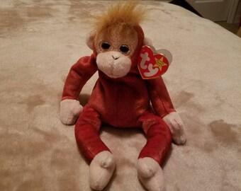 Schweetheart Ty Beanie Babies Red Monkey