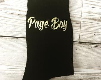Personalised Wedding Socks, Boys Socks, Page Boy
