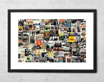 The Beatles Collage - The Beatles Poster - The Beatles Art - Beatles Poster - Beatles Gifts - Beatles Art - Rock Poster - Music Wall Decor