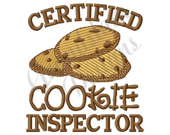 Chocolate Chip Cookie Inspector - Machine Embroidery Design