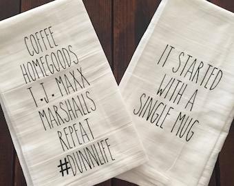 Rae dunn inspired kitchen towel