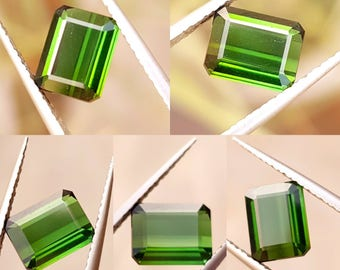 Amazing natural green tourmaline cut stone 2.00 carats from Afghanistan  mine.