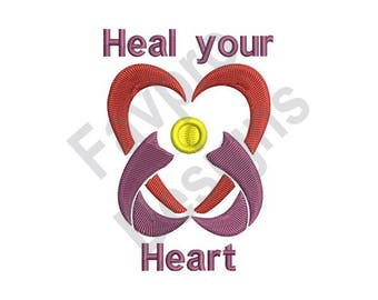 Heal Your Heart - Machine Embroidery Design