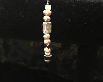 Light Purple/Light Pink Freshwater Pearl Bracelet