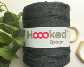 Olive Green* T-shirt yarn, Hoooked Zpagetti cotton, recycled cotton t-shirt, 120 meters, crochet supplies, macrame, knitting yarn