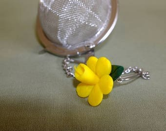 Daffodil Mesh ball, St Davids Day, Daffodil tea ball, meshball, tea infuser, tea ball, Daffodil tea infuser