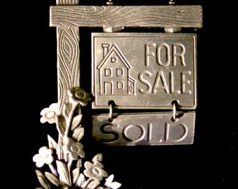 Sold sign pin