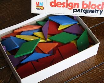Vintage, Wooden Parquetry Set, Design Blocks by Media Materials
