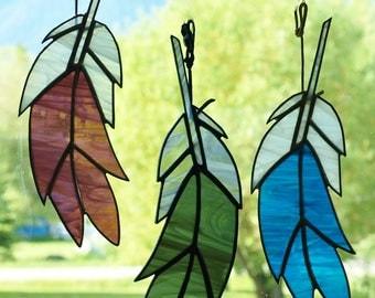 Stained Glass Suncatcher Spirit Feather