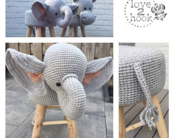 Animal stool Elephant Crochet