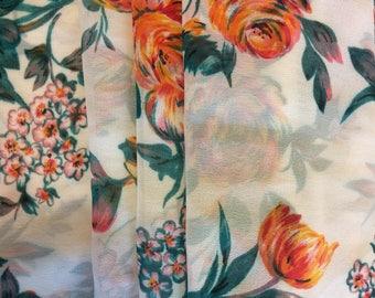 Womens Chiffon Ballet Wrap Skirt - White Floral