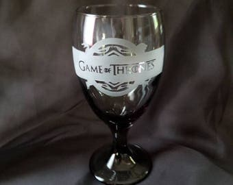 Game of Thrones Goblet, smoked glass.