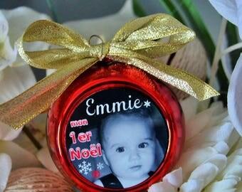 My first Christmas ball Christmas custom photo and name