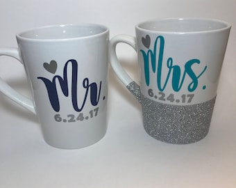 Mr. Mrs. Coffee mug set