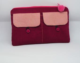 Tassel and velvet pouch